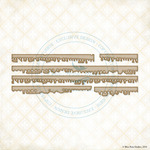 Notebook Edges Laser Cut Chipboard - Blue Fern Studios