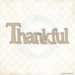 Thankful Laser Cut Chipboard Word - Blue Fern Studios