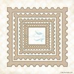 Postage Frames Laser Cut Chipboard - Blue Fern Studios