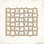Puzzle Mini Panel Laser Cut Chipboard - Blue Fern Studios