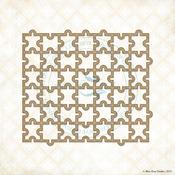 Puzzle Mini Panel Laser Cut Chipboard - Blue Fern Studios