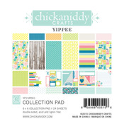 Yippee 6 x 6 Paper Pad - Chickaniddy Crafts