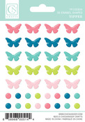Yippee Enamel Shape Stickers - Chickaniddy Crafts