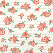 Dotted Blossoms Paper - Cottage Living - Pebbles