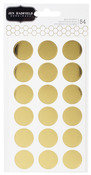 Cottage Living Gold Circle Stickers - Pebbles
