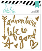 Wanderlust Vinyl Gold Glitter Stickers - Heidi Swapp