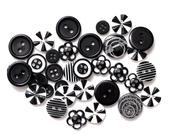 Black Button Bouquet - Queen & Co
