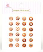 Orange Metallic Nailheads - Queen & Co