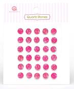 Hot Pink Quartz Stones - Queen & Co