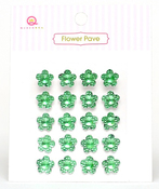 Green Flower Pave Stones - Queen & Co
