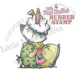 Fancy Sunbonnet Easter - Little Miss Muffet Cling Stamp