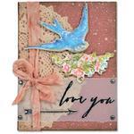 Love You By Tim Holtz - Sizzix Framelits Dies 4/Pkg W/Stamps By Tim Holtz