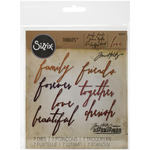 Sizzix Thinlits Dies 7/Pkg By Tim Holtz - Handwritten Love