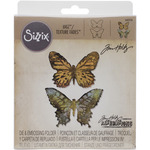 Butterfly Duo - Sizzix Bigz Die W/A2 Texture Fades Folder By Tim Holtz