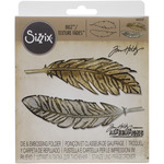 Feather Duo - Sizzix Bigz Die W/A2 Texture Fades Folder By Tim Holtz