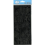 Black Flower Quartet Peel - Off Stickers