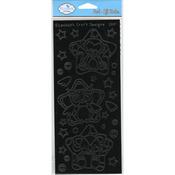 Black - Star Buddies Peel-Off Stickers