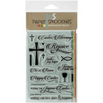 "Paper Smooches 4""X6"" Clear Stamps - Easter Blessings"