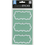White Bracket Border - Label Stickers With Border 3 Sheets/Pkg