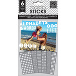 Our Life Alpha Words Clear Stickers - Pocket Pages - Me & My Big Ideas