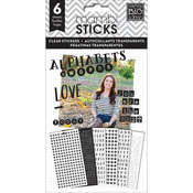 You Are The Best Alpha Words Clear Stickers - Pocket Pages - Me & My Big Ideas