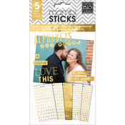 Hey Girl Alpha Words Foil Stickers - Pocket Pages - Me & My Big Ideas