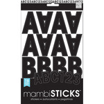 Black Caps - Large Alphabet And Number Stickers