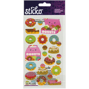 Sticko Classic Stickers - Donut Characters