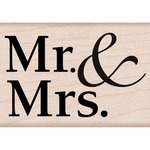 Mr. & Mrs. - Hero Arts Mounted Rubber Stamps
