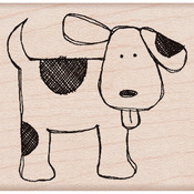 Happy Dog - Hero Arts Mounted Rubber Stamp