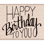 Happy Birthday To You - Hero Arts Mounted Rubber Stamp