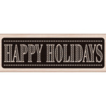 Chalkboard Happy Holidays - Hero Arts Mounted Rubber Stamp