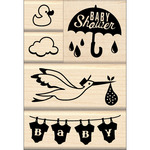 Baby Shower - Inkadinkado Mounted Stamp Set