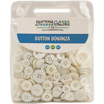 Button Bonanza .5lb Assorted Buttons - White