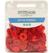 Fire Engine Red - Button Bonanza .5lb Assorted Buttons