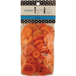 Outrageous Orange - Laura Kelly 5.5oz Assorted Buttons