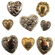 Assorted Fancy Hearts - Button Theme Pack