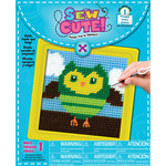 "Owl Learn To Sew Needlepoint Kit6""X6"" Stitched In Yarn"