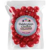 Red - Gumballs Stand-Up Bag 14oz