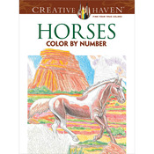 Creative Haven Horses Color By Number - Dover Publications
