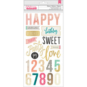 Celebrate Phrases Thickers Stickers - Confetti - Maggie Holmes