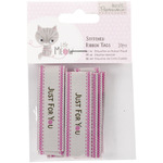 Papermania Little Meow Stitched Ribbon Tags 10/Pkg-