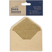 Kraft Glitter 14cm X 10cm Envelopes - Papermania Bare Basics