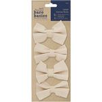 Papermania Bare Basics Large Canvas Bows 4/Pkg-