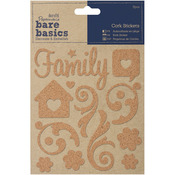 Family Swirls Cork Stickers Bare Basics - Papermania