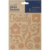 Family Swirls Cork Stickers Bare Basics - Papermania