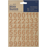 Number Cork Stickers Bare Basics - Papermania