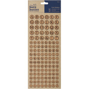 Alphabet Circles - Papermania Bare Basics Cork Stickers 126/Pkg