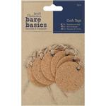 Heart - Papermania Bare Basics Cork Tags 6/Pkg