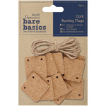 Cork Square Bunting/Pennant Flags - Papermania Bare Basics